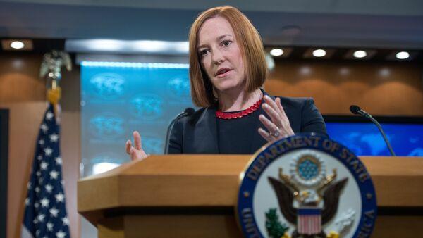 US State Department spokeswoman Jen Psaki - Sputnik International