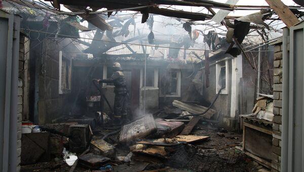 Consequences of artillery attack on Donetsk's Kuibyshevsky District - Sputnik International
