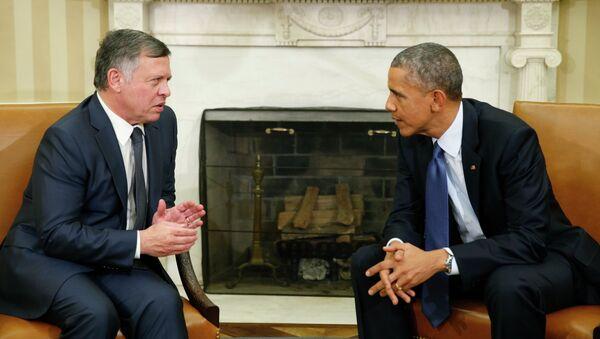 U.S. President Barack Obama meets with Jordan's King Abdullah at the White House in Washington February 3, 2015 - Sputnik International