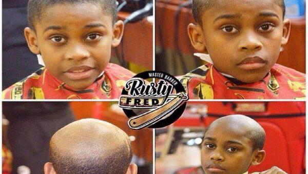 Bad behavior? Bad haircut! Perfect solution to a misbehaving little brat. - Sputnik International