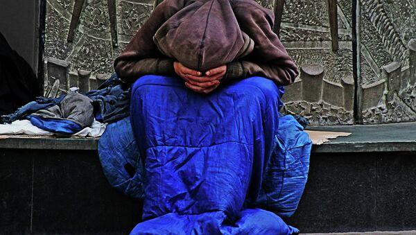 Homeless person in the UK - Sputnik International