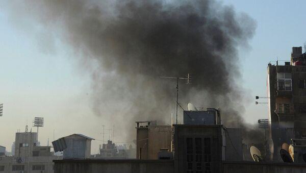 Airstrike in Damascus - Sputnik International
