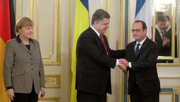 Poroshenko, Hollande, Merkel - Sputnik International