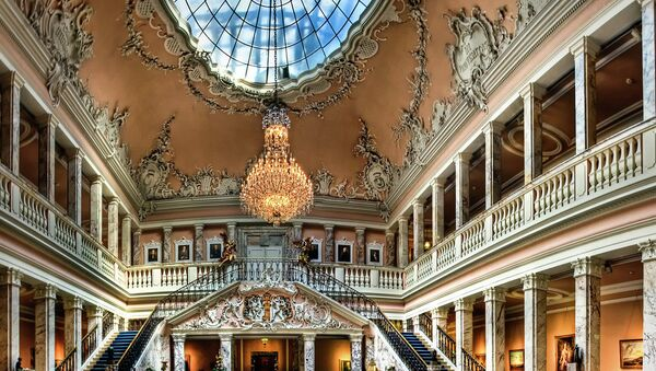 Lobby of the Henkell Mansion in Wiesbaden, Germany. Adam Henkell was a wealthy champagne producer. - Sputnik International