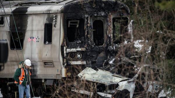Freign train accident - Sputnik International