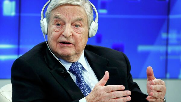 Georges Soros, Chairman of Soros Fund Management, speaks during the session 'Recharging Europe' in the Swiss mountain resort of Davos January 23, 2015. File photo. - Sputnik International