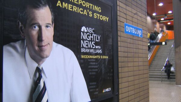 A poster for Nightly News with Brian Williams hangs in a San Francisco subway - Sputnik International