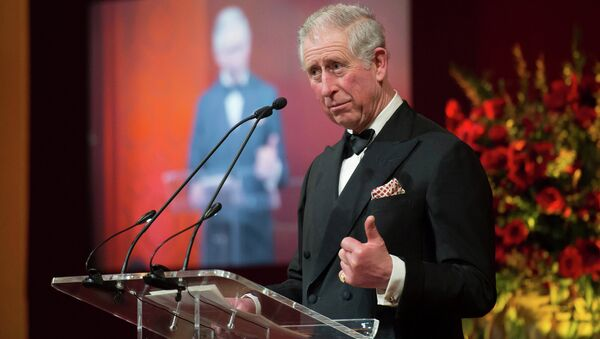 The Prince of Wales gives a speech as he attends the British Asian Trust dinner in central London Tuesday Feb. 3, 2015 - Sputnik International
