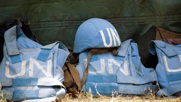 Helmet and Flack Jackets of UN Peacekeepers - Sputnik International