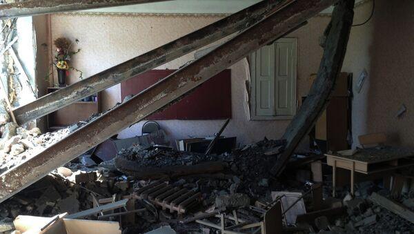 School No.152 after bombardment in the town of Mospino. Donetsk region, Ukraine - Sputnik International