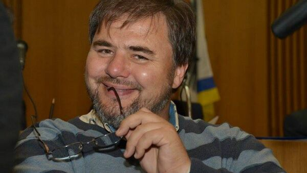 Ukrainian journalist Ruslan Kotsaba's arrest has led to outrage among Ukrainian rights groups and among some local media. - Sputnik International