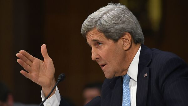 Secretary of State John Kerry testifies on Capitol Hill in Washington, Tuesday, Dec. 9, 2014 - Sputnik International