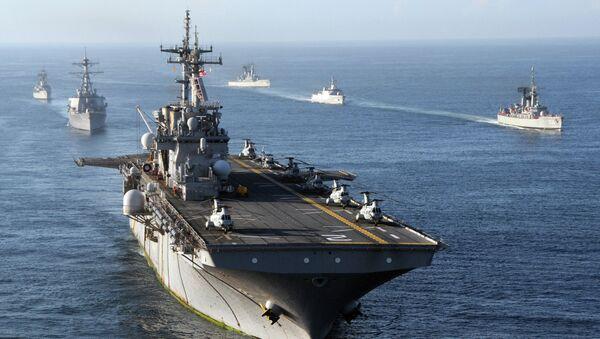 US Navy Ships in Indian Ocean - Sputnik International
