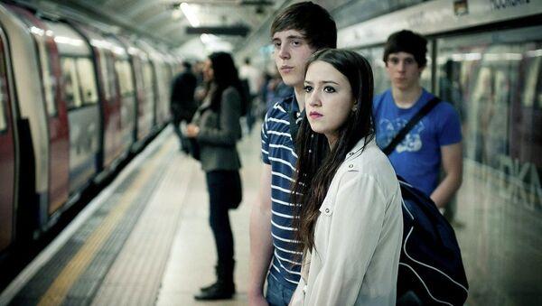 Commuters on London tube - Sputnik International