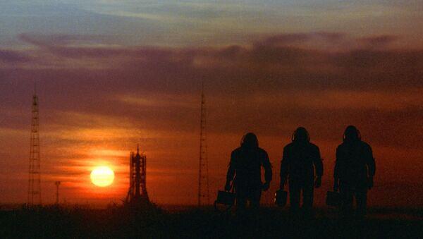 Astronauts at the Baikonur space center - Sputnik International