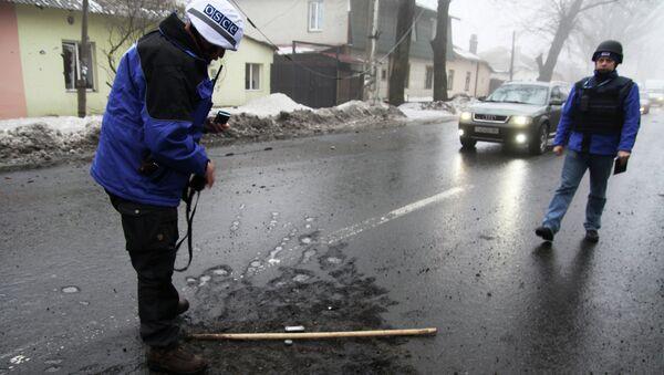 OSCE observers in Donetsk - Sputnik International