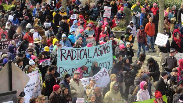 The Moral March in Raleigh, North Carolina, February 14, 2015 - Sputnik International