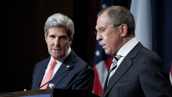 US Secretary of State John Kerry and Russian Foreign Minister Sergey Lavrov - Sputnik International