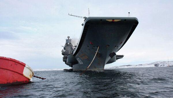 Russia's Northern Fleet aircraft-carrying heavy cruiser Admiral Kuznetsov - Sputnik International