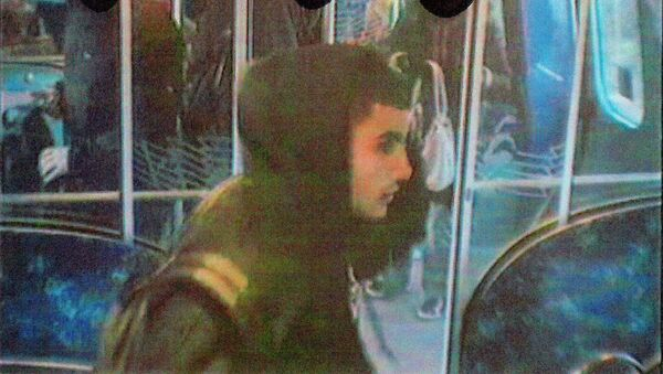 An image released by Danish police shows Omar Abdel Hamid El-Hussein on a subway train in connection to a stabbing in Copenhangen on November 22, 2013, and received by Reuters on February 16, 2015 - Sputnik International