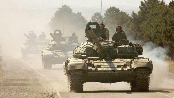 Russian tanks in South Ossetia - Sputnik International