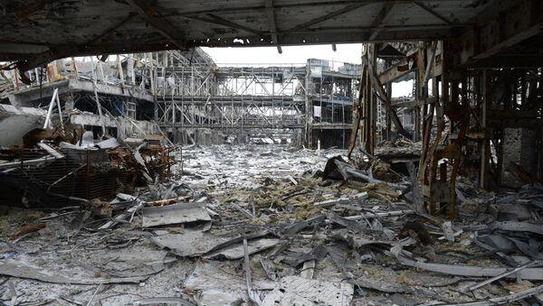 Destroyed airport in Donetsk - Sputnik International