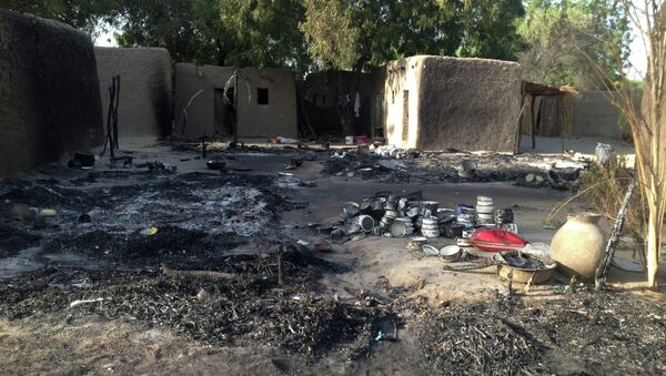 A picture taken on February 13, 2015 shows the village Nougboua after it was attacked by Nigeria's Boko Haram rebels - Sputnik International