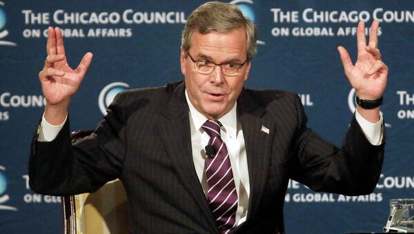 """""""For the life of me, I don't understand – the debate has gotten off track, where we're not understanding and protecting,"""" Jeb Bush said about criticism of the NSA at the Chicago Council for Global Affairs. - Sputnik International"""
