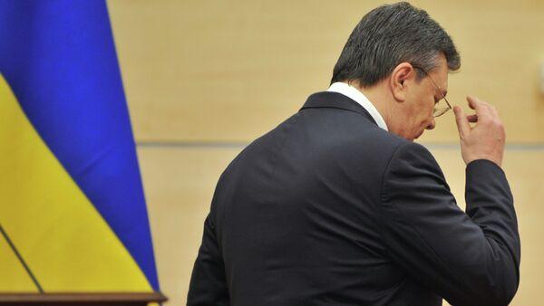 Viktor Yanukovich, who earlier declared himself to be the legitimate President of Ukraine, after a news conference in Rostov-on-Don - Sputnik International