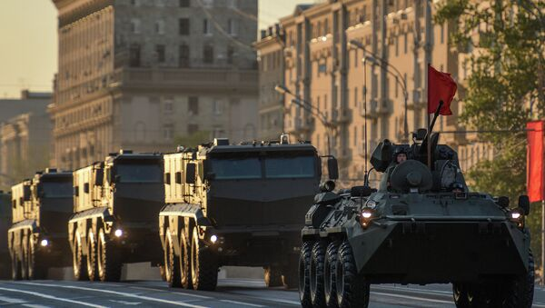Military equipment takes part in Victory Day Parade rehearsal - Sputnik International