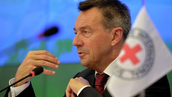 President of the International Committee of the Red Cross (ICRC) Peter Maurer speaks during a press conference in Moscow on February 24, 2015 - Sputnik International