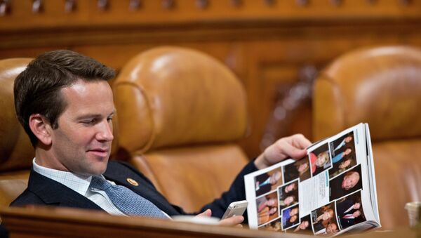 Congressman Aaron Schock would rather be on a private jet right now. - Sputnik International