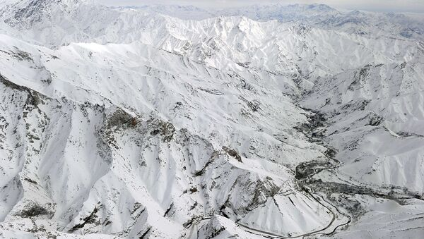 An aerial view shows Salang village covered with snow after avalanches killed at least 165 people at the Salang tunnel in Parwan province. File Photo - Sputnik International