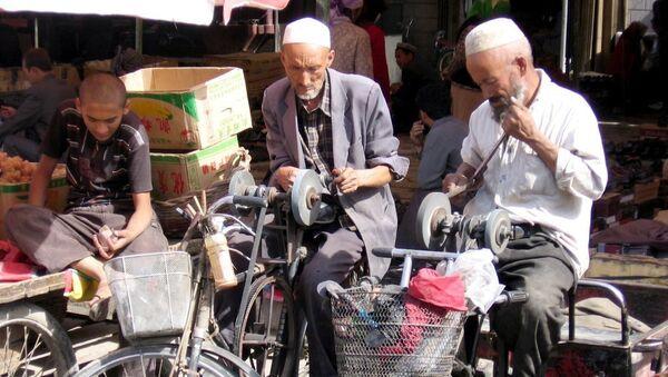 Khotan (Hotan / Hetian) is an oasis city in the Xinjiang Uygur Autonomous Region of the People's Republic of China. Sunday market - Sputnik International