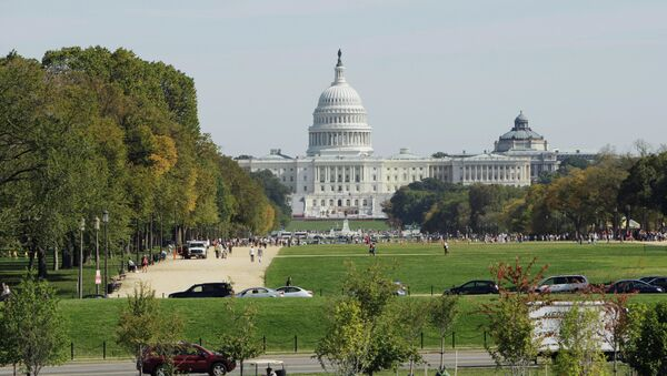 The United States Capitol, the meeting place of the US Congress in Washington, DC The Capitol's foundation stone was laid by George Washington on September 18, 1793 - Sputnik International
