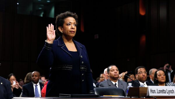 Loretta Lynch is sworn in to testify before a Senate Judiciary Committee confirmation hearing on her nomination to be U.S. attorney general on Capitol Hill in Washington - Sputnik International