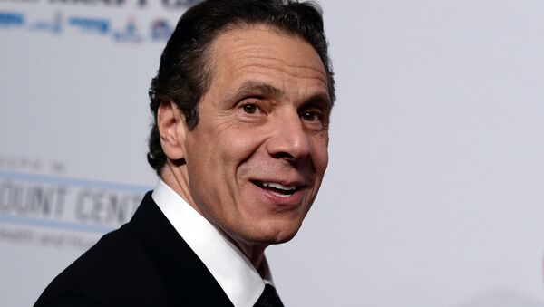 New York Governor Andrew Cuomo, arrives to attend the Elton John AIDS Foundation's 13th Annual An Enduring Vision Benefit on October 28, 2014 in New York - Sputnik International