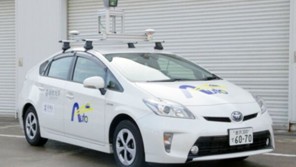 The driverless car developed by Kanazawa University. It will be road tested from March 1 to 2020 - Sputnik International