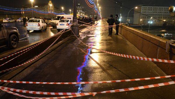 On the site of the killing of leading opposition figure and former deputy prime minister Boris Nemtsov - Sputnik International