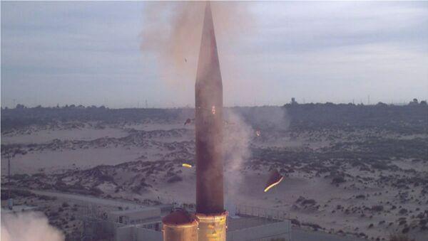 Feb. 25, 2013 - The Israel Missile Defense Organization (IMDO) and the U.S. Missile Defense Agency (MDA) completed a successful flight test of the Arrow-3 interceptor missile. - Sputnik International