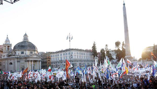 Italian Lega Nord (Northern League) protesters - Sputnik International