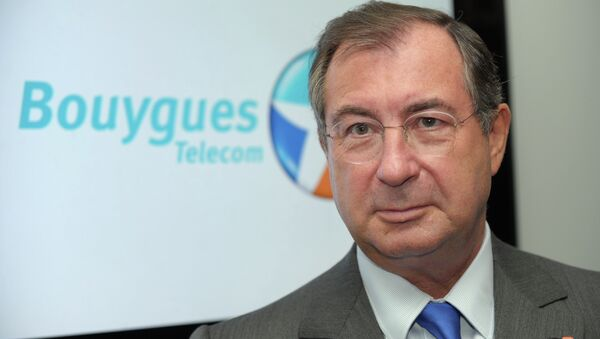 French construction and media conglomerate Bouygues' CEO, Martin Bouygues - Sputnik International
