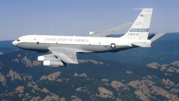 A Boeing OC-135B Open Skies aircraft - the type used in this week's US-Ukrainian overflight over Russia. - Sputnik International
