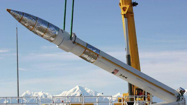 A ground-based missile interceptor is lowered into its missile silo - Sputnik International