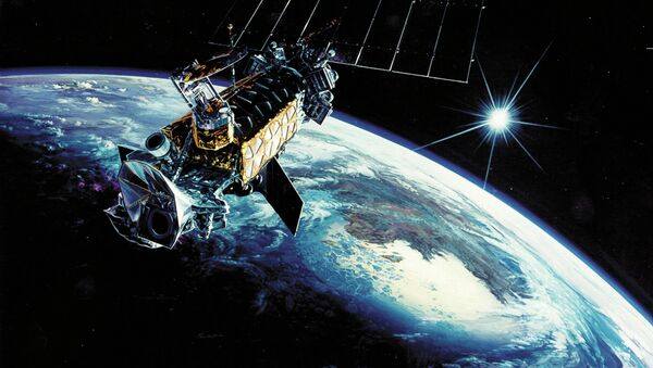 Defense Meteorological Satellite Program Primary function: Collect terrestrial, space en- vironment and Earth surface data. Dimensions: Approximately 14 ft. long. Weight: 2,545 lbs., includ- ing 592-pound sensor payload. - Sputnik International