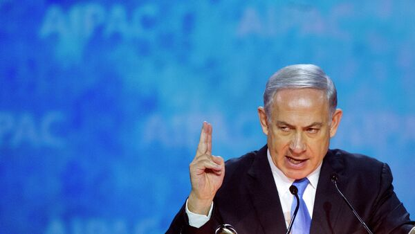 Israeli Prime Minister Benjamin Netanyahu gestures while addressing the 2015 American Israel Public Affairs Committee (AIPAC) Policy Conference in Washington - Sputnik International