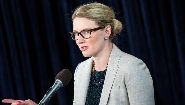 State Department Deputy Spokeswoman Marie Harf speaks during a briefing at the Washington Foreign Press Center - Sputnik International