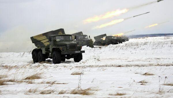 Artillery drills - Sputnik International