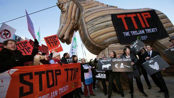 Anti-TTIP demonstration - Sputnik International