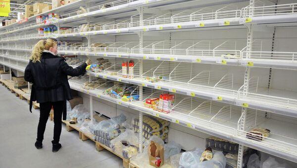 Hype at grocery stores in Lviv - Sputnik International